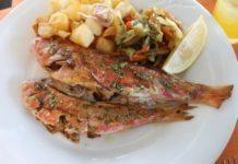 Frischen Fisch in einem der Restaurants von Menorca zu essen - wunderbar!